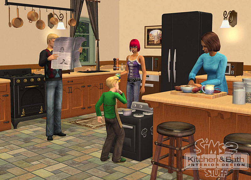 The sims 2 kitchen bath interior design stuff pc video games - Designer kitchen and bathroom ...