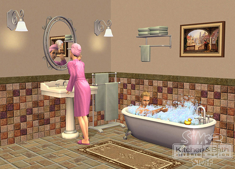 Amazon Com The Sims 2 Kitchen Bath Interior Design Stuff Pc Video Games