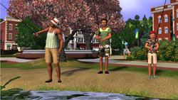 Gone fishing in 'The Sims 3'