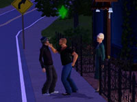 A slap of the face in The Sims 3 for Xbox 360