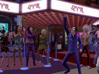 Sims getting crazy on a night out in The Sims 3 for Xbox 360
