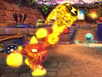 An Eruptor Skylander in battle from Skylanders Spyro's Adventure