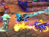 A multiplayer screenshot from Skylanders Spyro's Adventure