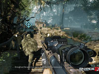 Following your spotter as you search for the best sniping position in Sniper: Ghost Warrior 2
