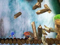 Sonic sprinting through classic side-scrolling action in Sonic Generations