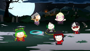 Kyle leading an attack against a band of vampire kids in South Park: The Stick of Truth