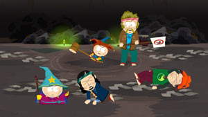 Battling rampaging hippies in South Park: The Stick of Truth