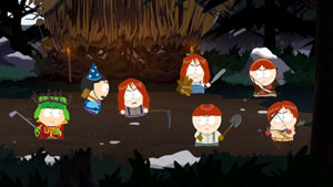 Kyle and friend going into battle against a group of angry Ginger Kids in South Park: The Stick of Truth