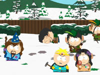 Cartman and Butters battling attacking elves in South Park: The Stick of Truth