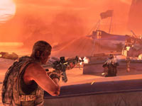 Using a sandstorm as cover in Spec Ops: The Line