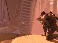 Sniping from a rooftop in Spec Ops: The Line