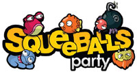 Squeeballs Party game logo