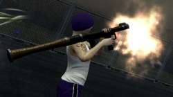 Shooting down a jet with a rocket launcher in 'Saints Row 2'
