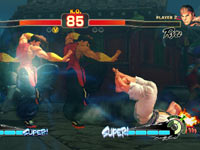 Yang putting the moves on Ryu in Super Street Fighter IV: Arcade Edition