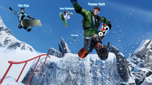 Some of the playable snowboarders from SSX