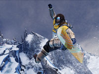 Moby nailing a one-foot trick in SSX