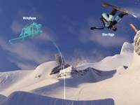 Chasing the ghost image of a friend in SSX