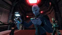 A Federation away team in Star Trek Online