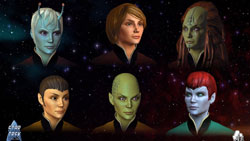 A sampling of playable races available in Star Trek Online