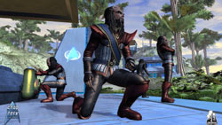 Leading a Klingon away party in Star Trek Online