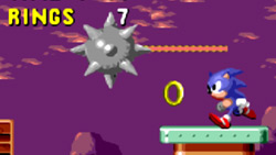 Sonic going for a ring in 'Sonic the Hedgehog'