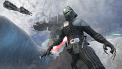 Hunting for Jedi and rebels on Hoth in Star Wars The Force Unleashed: Ultimate Sith Edition