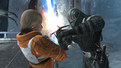 Battling Luke Skywalker in Star Wars The Force Unleashed: Ultimate Sith Edition Xbox