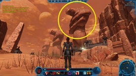 Maneuvering your Star Wars character through the game world in Star Wars: The Old Republic