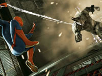 Spider-Man battling Rhino in The Amazing Spider-Man