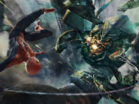 Spider-Man attacking an enemy during a free-fall in The Amazing Spider-Man
