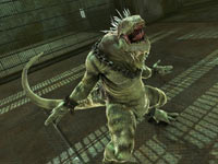 Iguana letting out a bellow in The Amazing Spider-Man