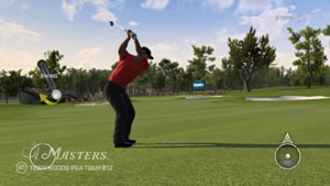 Tiger Woods PGA Tour 12 Collector's Edition screen #1 showing in-game PlayStation Move controller