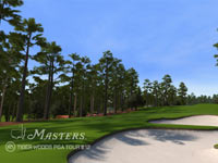Hole 8 at Agusta laid out in front of you in Tiger Woods PGA Tour 12: The Masters