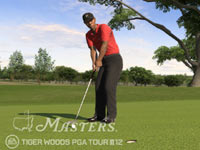 Tiger on the green in Tiger Woods PGA Tour 12 Collector's Edition