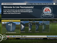 Live tournaments in 'EA Sports Tiger Woods PGA Tour 10