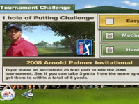 Tournament challenges in 'EA Sports Tiger Woods PGA Tour 10
