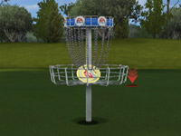 Disc mini-game in 'EA Sports Tiger Woods PGA Tour 10
