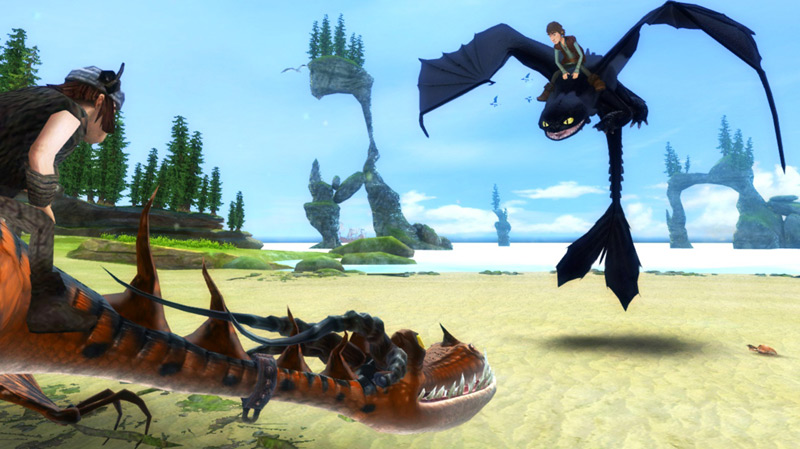Amazon how to train your dragon xbox 360 video games a monstrous nightmare taking the low ground against hiccup on night fury in how to train ccuart Image collections