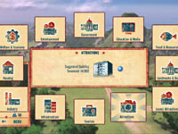In-game main menu from Tropico 4