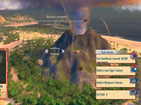 An erupting volcano from Tropico 4