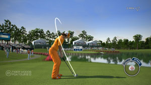 Total swing control in Tiger Woods PGA Tour 13 for Xbox 360