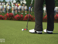 Putting on the green in Tiger Woods PGA Tour 13: The Masters Collection Edition for Xbox 360