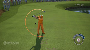 Total swing control in Tiger Woods PGA Tour 13: The Masters Collection Edition for Xbox 360