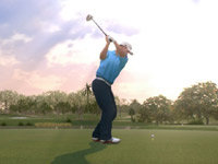 Ross Fisher swinging off the tee in Tiger Woods PGA Tour 13: The Masters Collection Edition for PS3