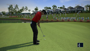 Using Kinect technology to putt as Tiger in Tiger Woods PGA Tour 13 for Xbox 360