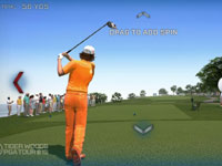 Using Kinect controls in Tiger Woods PGA Tour 13