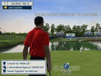 Using Kinect controls in Tiger Woods PGA Tour 13: The Masters Collection Edition for Xbox 360