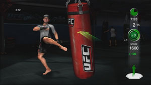 Trainer Mark DellaGrotte demonstrating a kick technique in UFC Personal Trainer: The Ultimate Fitness System