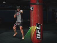 Trainer Mark DellaGrotte leading you through a Muay Thai knee exercise in UFC Personal Trainer: The Ultimate Fitness System