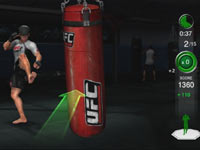 Front kick exercise with trainer Mark DellaGrotte in UFC Personal Trainer: The Ultimate Fitness System
